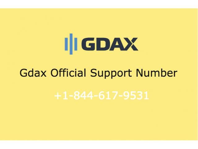 Gdax Customer Support Phone Number 1-844-617-9531